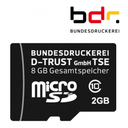Bundesdruckerei TSE, microSD, 8 GB