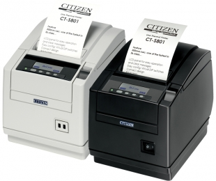 Citizen CT-S801, 8 Punkte/mm (203dpi), Cutter, Display, weiß