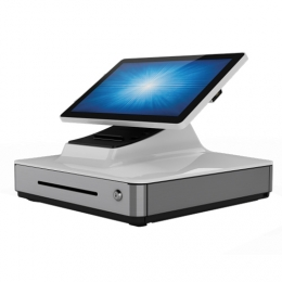 Elo PayPoint, 33,8cm (13,3''), Projected Capacitive, SSD, VFD, Scanner, PosReady 7, weiß