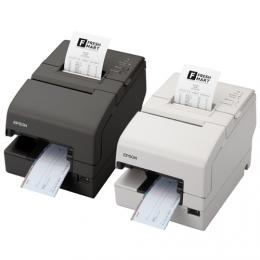 Epson TM-H 6000IV, USB, RS232, Cutter, MICR, weiß