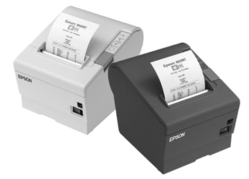 Epson TM-T88V, USB, powered-USB, schwarz