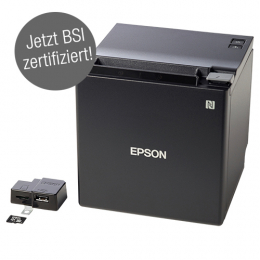 Epson TM-m30F, Fiscal DE, USB, BT, Ethernet, 8 Punkte/mm (203dpi), ePOS, weiß