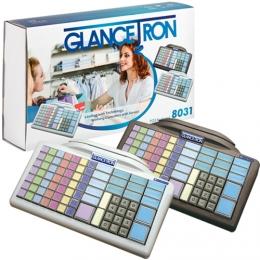 Glancetron Keyboard 8031, Num., RS-232, PS/2, Kit, schwarz