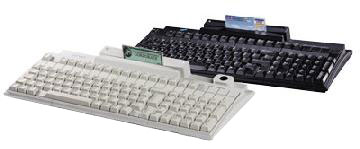 PrehKeyTec MC147, QWERTY, Alpha, MKL, USB, PS/2, weiß