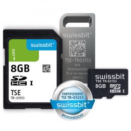 Swissbit TSE, SD-Karte, 8 GB, vereinzelt