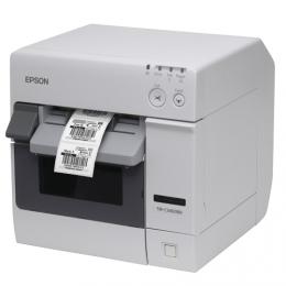 Epson TM-C3400BK, Ethernet, Cutter, weiß