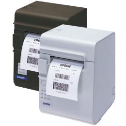 Epson TM-L90LF, 8 Punkte/mm (203dpi), linerless, USB, weiß